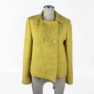 Milly Of New York Yellow Tweed Jacket Size 8